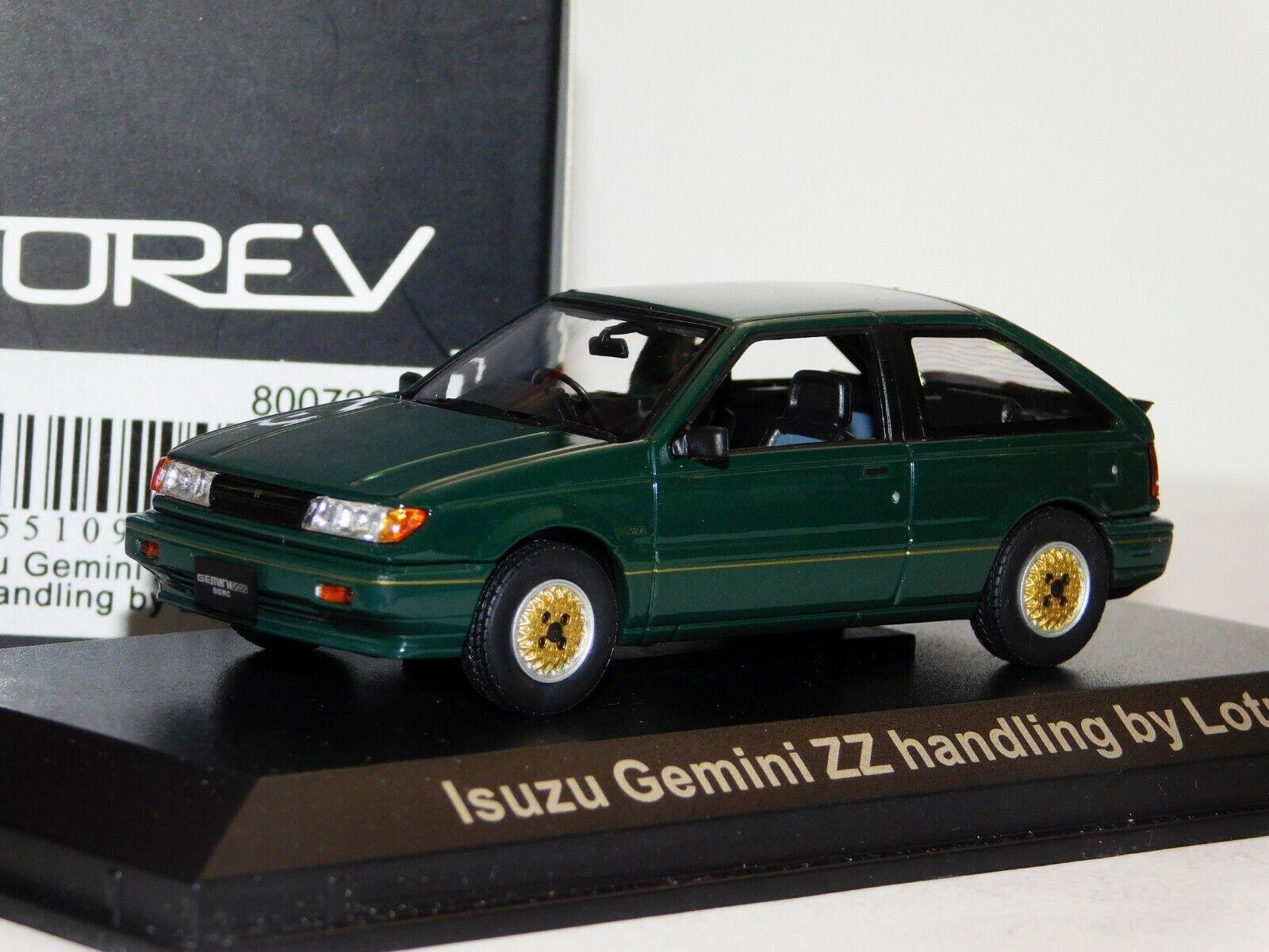 ISUZU GEMINI ZZ 1600 DOHC HANDLING BY LOTUS 1988 GREEN NOREV 800722 1 43