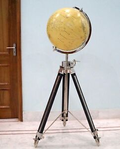 Collectibles Antique World Globe With Tripod Stand Home Decorative Gift Item Ebay