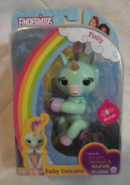 Fingerlings Interactive Baby Unicorn Molly Mint Green By WowWee NIB
