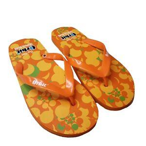 New-Men-039-s-Orange-Flip-Flops-Sandals-Orbit-Tropical-Remix-Size-Medium-US-NIP