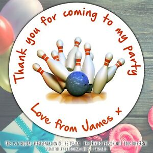 Personalised-Ten-Pin-Bowling-Birthday-Party-round-stickers-labels-party-sheet