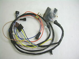 1968 impala belair engine wiring harness 396 427 ss with warning 69 Impala 68 impala wiring harness
