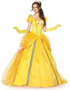 Adult-Disney-Beauty-amp-the-Beast-Princess-Belle-Enchanting-Deluxe-Dress-Costume