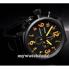 50mm Parnis orange mark PVD coated full Chronograph Lefty Crown mens Watch P187