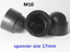 M5-M6-M8-M10-M12-M14-M16-M18-M20-M-Bolt-Nut-Domed-Cover-Caps-Plastic-Black miniatuur 8