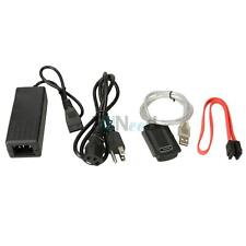 """USB 2.0 to IDE SATA 2.5/3.5"""" Hard Drive Converter Adapter Cable + AC Adapter"""