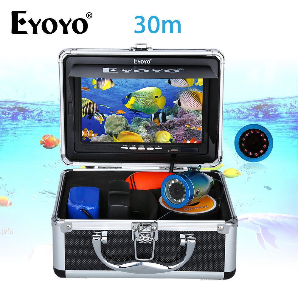 7  TFT LCD Monitor Fischkamera Tragbarer Unterwasserfischfinder 30M HD 1000TVL