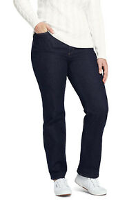 Lands-039-End-NWT-Women-039-s-Plus-High-Rise-Straight-Leg-Jeans-Deep-Indigo-MSRP-79-95