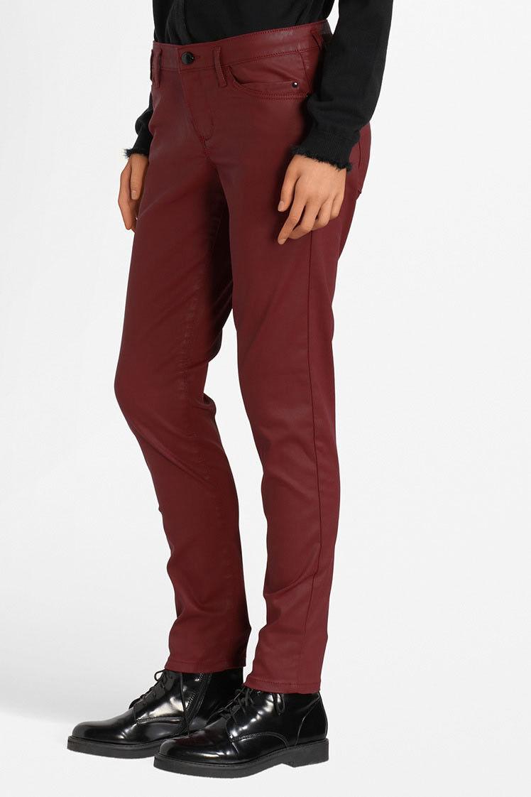 Pantalon ONE STEP, rouille foncé,  Indi enduit Slim . T.32 soit 42 FR Neuf