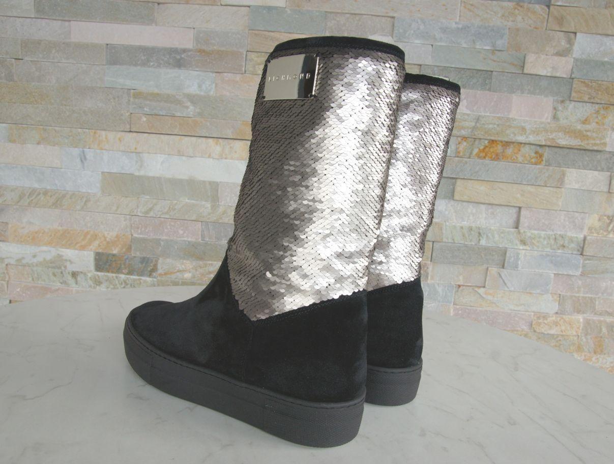 RICHMOND RICHMOND RICHMOND Gr 38 Winter Stiefel Stiefel Fell Schuhe Pailletten NEU ehem   a4e41a