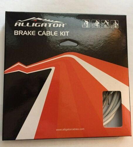 Red//Black//Gold//White Alligator Bicycle Front//Rear Brake Cable Kit for MTB//Road