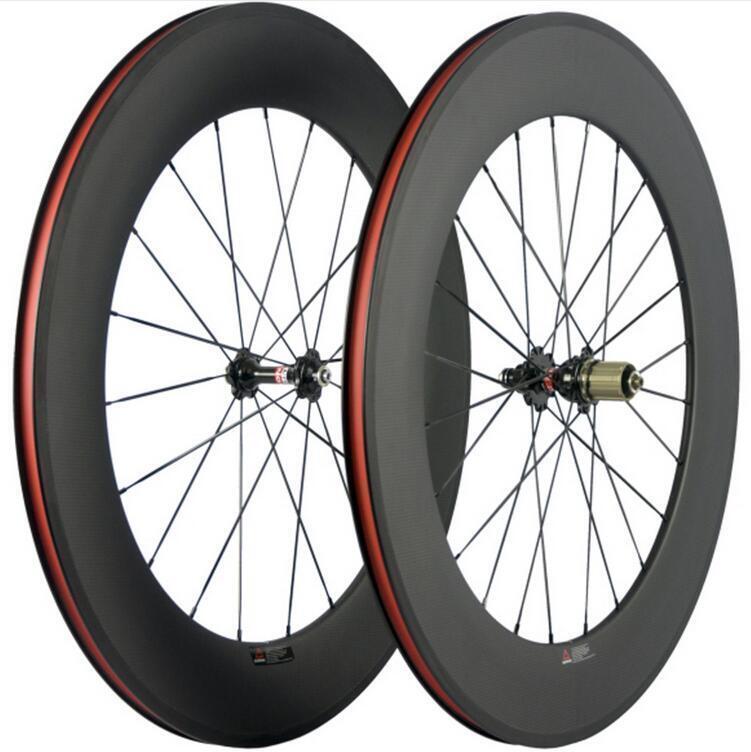 UK Carbon Road Bike Wheelset Novatec A271SB F372SB 88mm Clincher 25mm Width