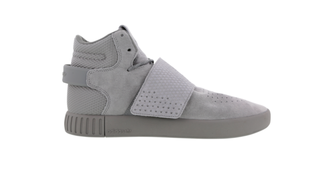 online store 4b0d2 67b0a Mens ADIDAS TUBULAR INVADER STRAP Grey Trainers BB1396