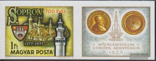 Hungary 3206B Zf with zierfeld complete.issue. unmounted mint never hinged 1