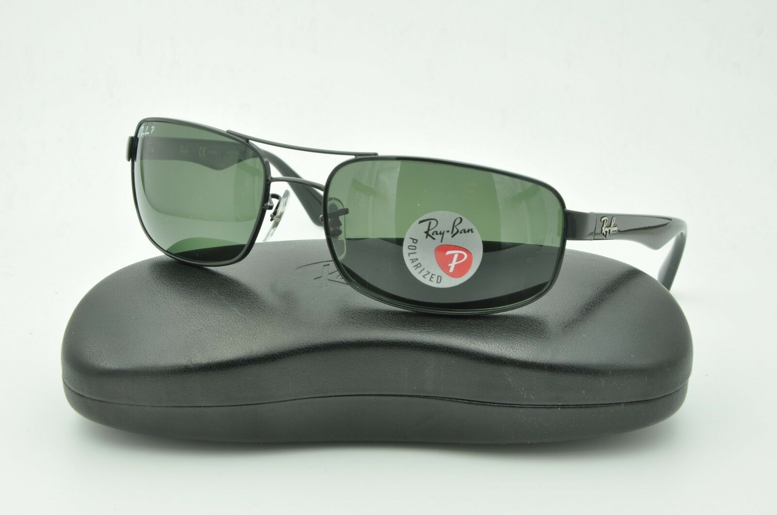 2eb14372f70 Ray Ban Rb3445 002 58 Black crystal Green Polarized 61mm Sunglasses ...