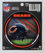 NFL Licensed Chicago Bears Round Decal Window Sticker Football Helmet
