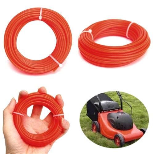 10mx2mm strimmer line brushcutter grass trimmer nyloncord wire round string RDR