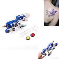 NEW Pro Rotary Motor Tattoo Machine Gun Liner Shader Zinc Alloy Blue USA