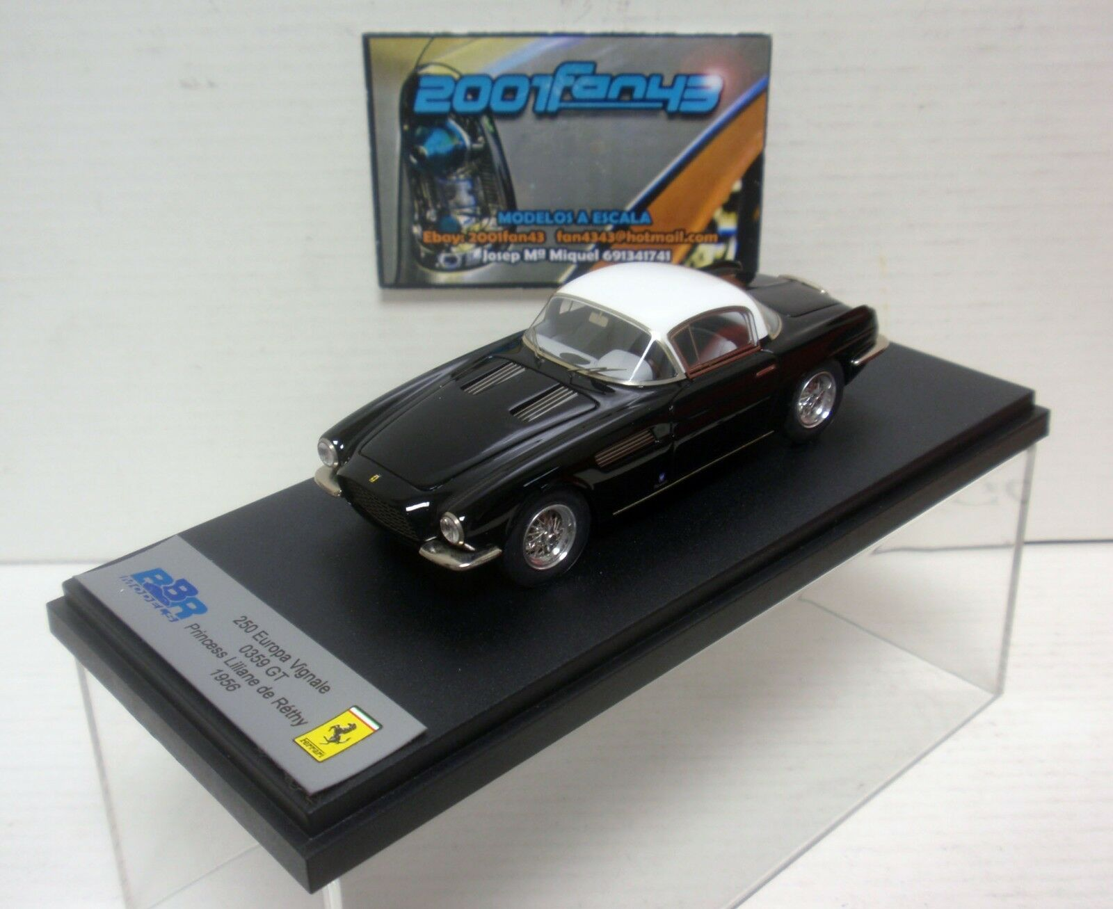 FERRARI 250 EUROPA VIGNALE 0359 GT 1956 LILIANE DE RETHY 1 43 BBR 105