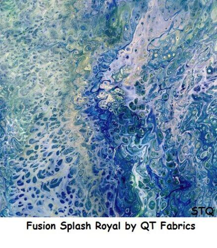 Fusión Splash Natural /& Cream moteado BTY algodón Acolchado tela Qt Fabrics