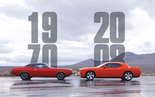 "2008 dodge challenger 1970 Mini Poster 24/"" x 36/"""