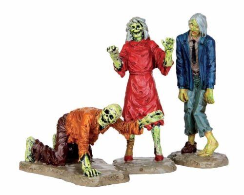 Spooky-Town set//3 42219 LEMAX 479 - Walking Zombies Halloween