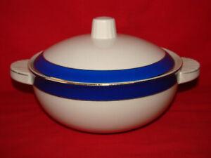 Antigua Sopera Cerámica Badonviller Azul Y Blanco N°2 - Loza Porcelana