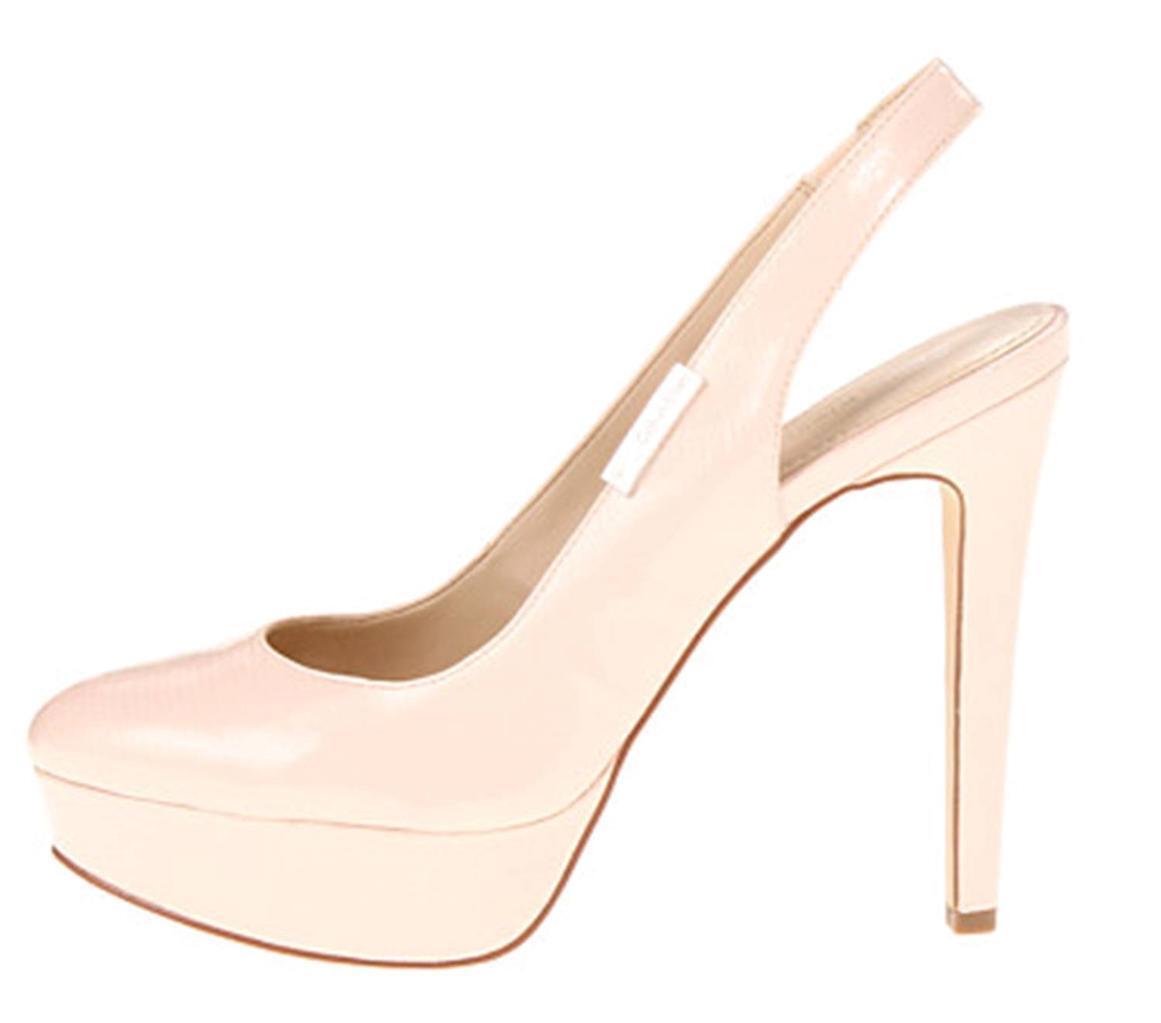 Womens Slingback Calvin Klein GRACEN Platform Slingback Womens Heels Pumps Pale Pink Patent US 10 9a712f