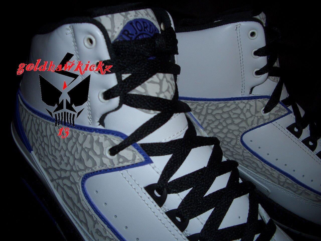Nike Air Jordan II 2 retro retro retro Concords cement nero Dark Concord 385475-153 SALE b13dec