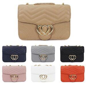 Women-039-s-Heart-Design-Crossbody-Bag-Ladies-Messenger-Evening-Shoulder-Handbag