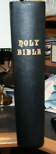 Manuscripts Large Antique C1900 Family Holy Bible Blank Family Pages Illustrated Antiques