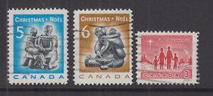 Kanada, Canada, 3 gestempelte Weihnachtmarken