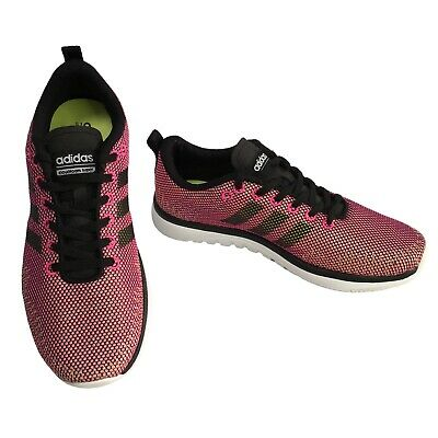 adidas neo Womens CLOUDFOAM SUPER FLEX Pink Mesh Lace Up Trainers Size 4.5 UK | eBay