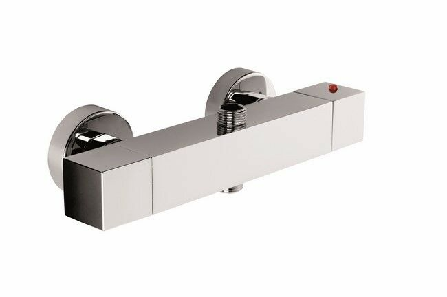 Rubinetto miscelatore esterno doccia termostatico 2 uscite Young cromo lucido