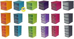 2,3,4,5 Tier Small Plastic A5 Handy Drawer Storage Unit Desk Cabinet Rack Tidy