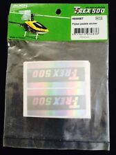 H50058 Align Trex 500 RC Helicopter Flybar paddle sticker New In Package