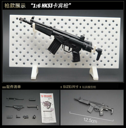 8Pcs 1//6 Toys Gun Model Puzzles Building Bricks Gun Soldier Weapon+Display Wall