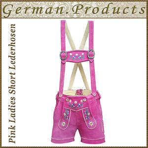Oktoberfest Ladies Short Lederhosen German Bavarian Trachtent Women Costume -Gp1