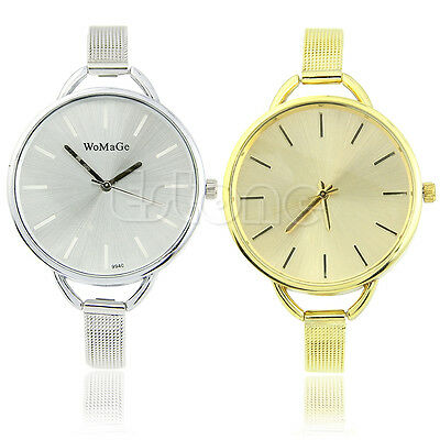 New Fashion Girls Women Ladies Gift Analog Dress Stainless Quartz Wrist Watches