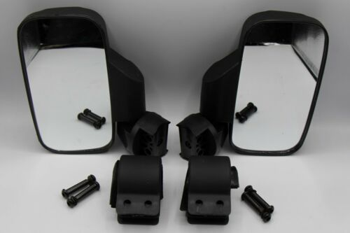 "2 x UTV Side Mirrors 1.75/"" /& 2/"" Clamps Polaris Ranger RZR 800 900 1000 CAN-AM"