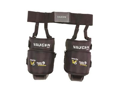 Vaughn Ventus LT60 ice hockey goalie knee guards junior black new goal thigh jr