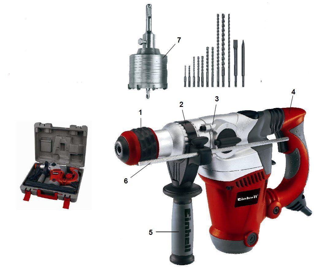 einhell rt rh 32 kit bohrhammer meißel hammer schlagbohrmaschine