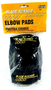 1996-BLADE-RUNNER-by-Rollerblade-0000-Elbow-Pads-Guards-Set-Black-JR-NEW-Sealed