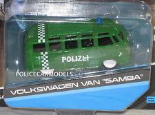 Maisto 1/64 German Police Polizei VV Volkswagen SAMBA Van -- 15494