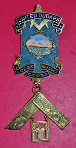 Masonic Past Master's Jewel United Dooars Lodge No 3351