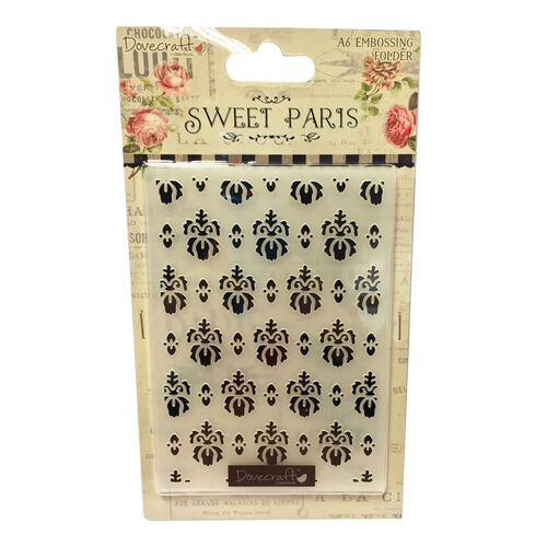 A6 Dovecraft Sweet Paris Embossing Folder for cards and crafts