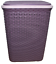Plastic-Laundry-Basket-Large-Washing-Clothes-Bin-Rattan-Style-with-Handles-Lid thumbnail 23