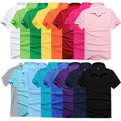 Fashion New Women Men's Slim Fit Casual Short Sleeve Polo T-Shirt M L XL 2XL 3XL
