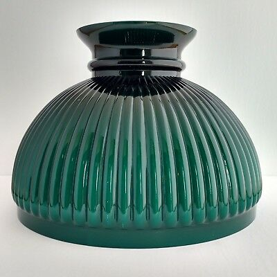 DARK-GREEN-CASED-GLASS-RIBBED-SHADE-ALADDIN-LAMP-N301-STYLE-NEW-IN-BOX