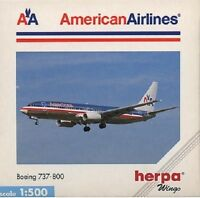 Herpa 511469 American Airlines Boeing 737-800 1:500 Scale Diecast Mint 1999